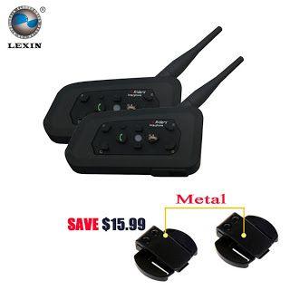 Lexin 2017 New 2PCS 1200M Motorcycle Bluetooth Helmet Intercom for 6 riders BT Wireless intercomunicador Interphone Headsets MP3 (1907005436)  SEE MORE  #SuperDeals