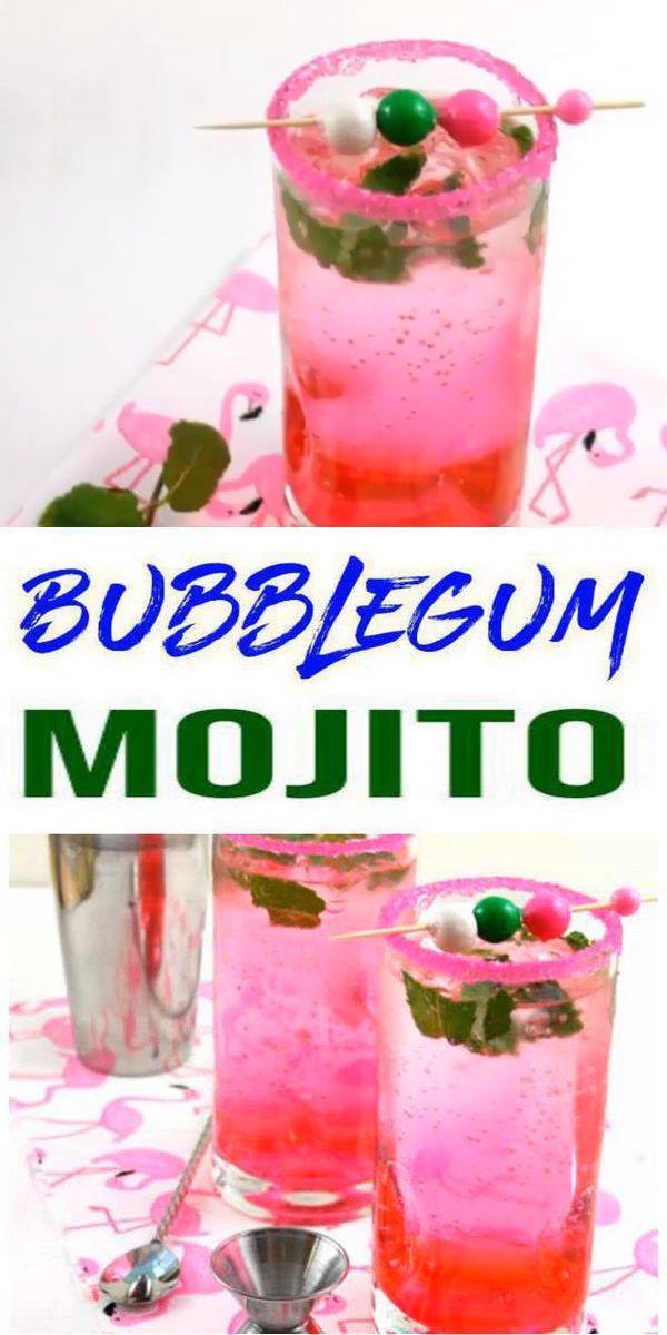 Bubblegum Mojito Erfahren Sie Wie Man Mojitos Macht Bubblegum Mojito Cocktail Einfache R Kimspiredd Mojito Rezept Milchshake Rezept Cocktail Essen