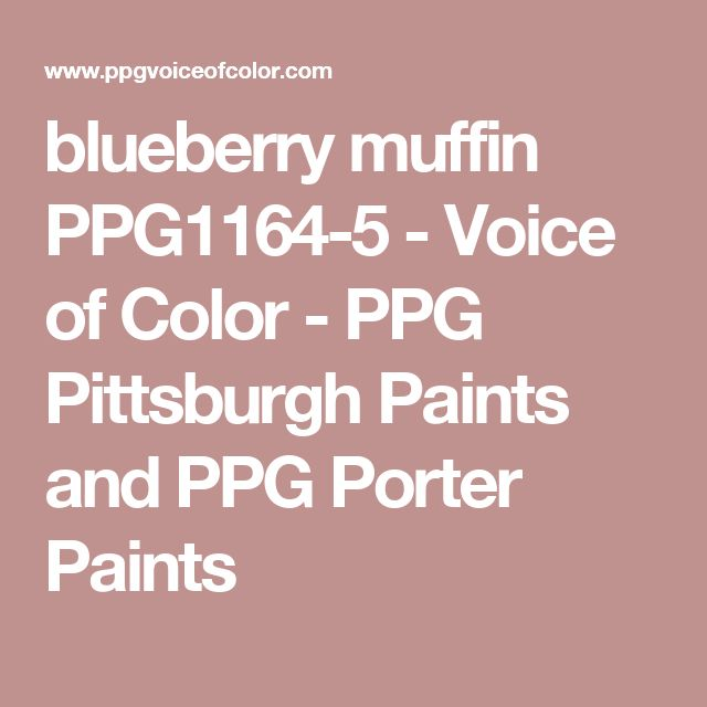 blueberry muffin PPG1164-5 - Voice of Color - PPG Pittsburgh Paints and PPG Porter Paints