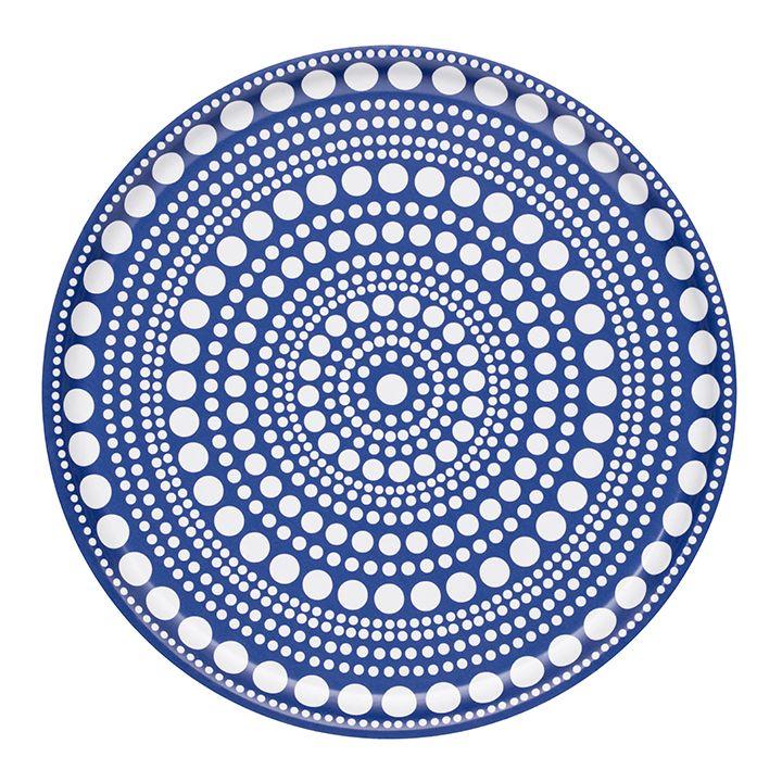 Kastehelmi tarjotin 35 cm sininen