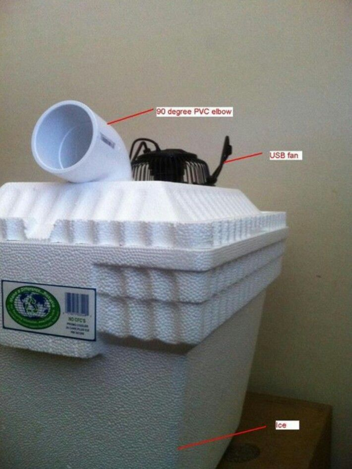 how to make your own air conditioner with ice