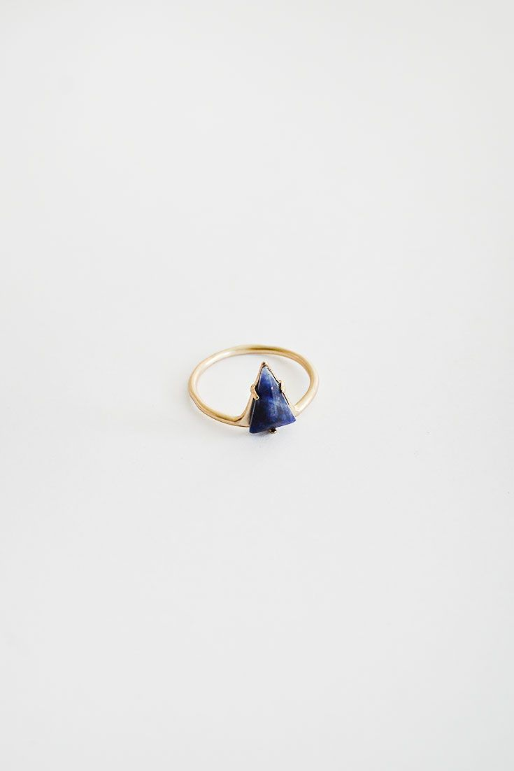 Indigo Prism Ring / adored vintage