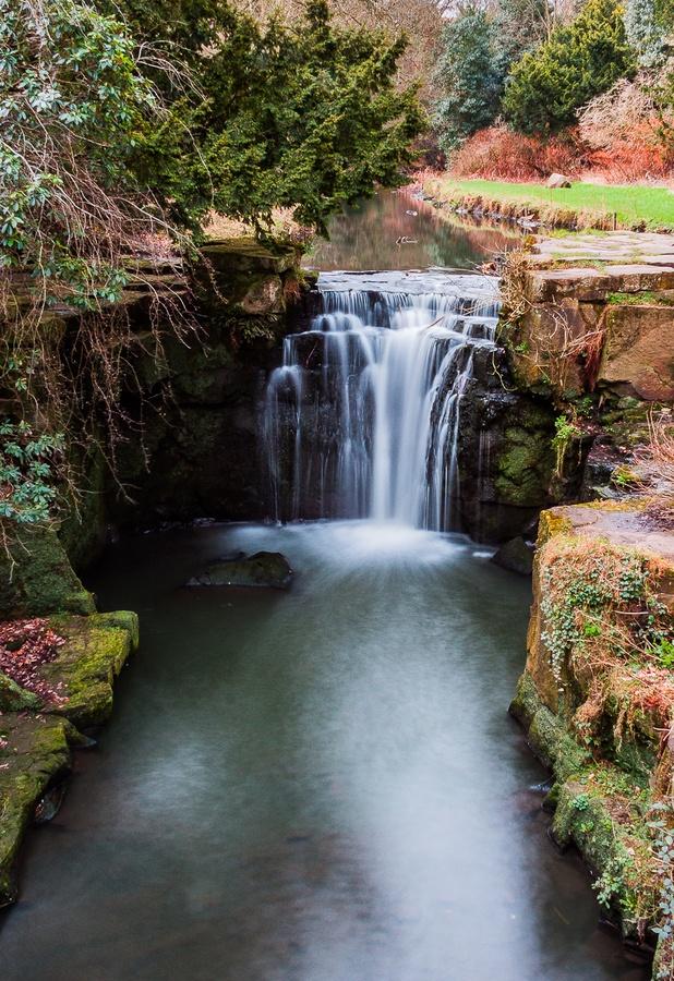 Jesmond Dene Waterfall, small but very beautiful.