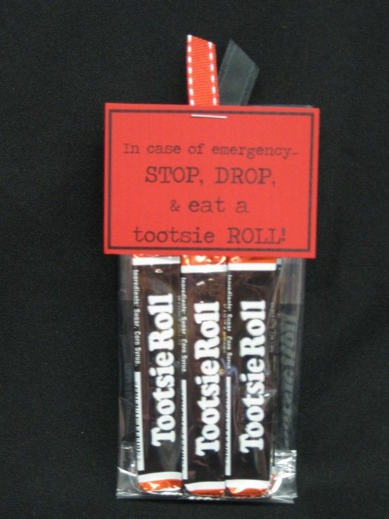 In case of emergency STOP, DROP, & Eat a tootsie ROLL!   Craft Ideas ...
