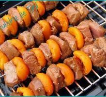 Recette - Brochettes de magret de canard aux abricots - Proposée par 750 grammes