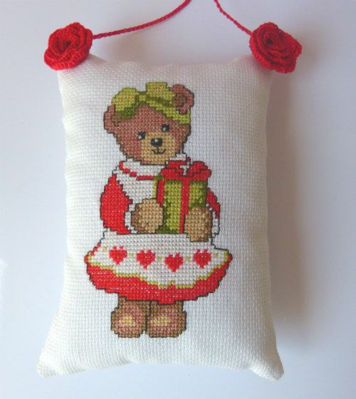 Tree Bear Christmas Ornament Christmas by CrossStitchElizabeth
