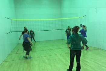 Wallyball in action!