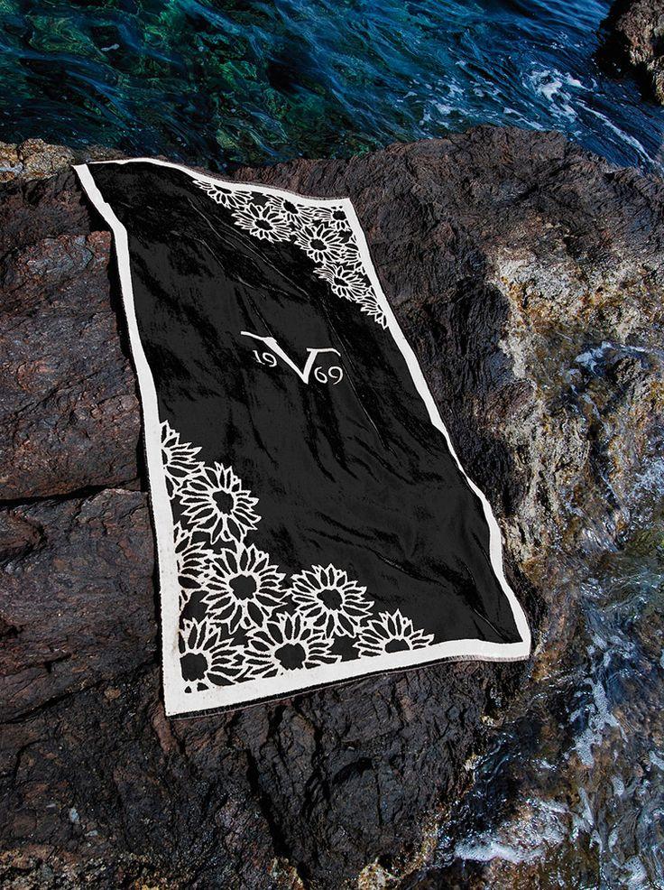 Πετσέτα θαλάσσης βαμβακερή Mediterraneo Fiore του οίκου Versace