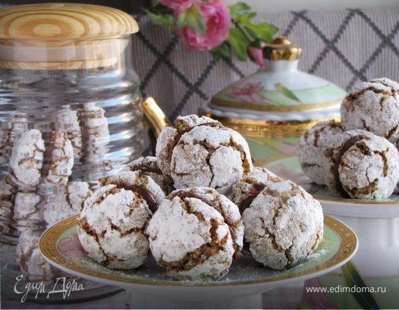 Печенье ореховое с Нутеллой. Ингредиенты: сахар, пшеничная мука, корица молотая