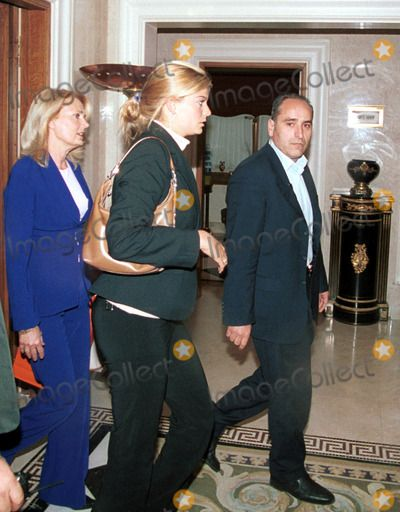 Inside Athens 04-28-2004in the Photograph Athina Onassis Roussel in Visit to Athens with the Stepmother Gabi Roussel Photo by Lapresse-Globe Photos