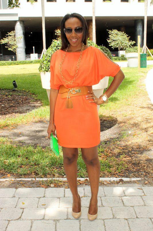 NuSophisticate: Orange Dress + Carnival Party