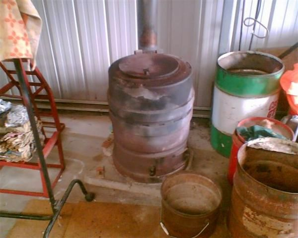 how to make brake drum wood heater