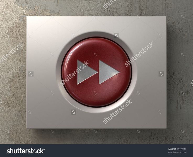 A Red Button With The Forward Sign Стоковые фотографии 49172317 : Shutterstock