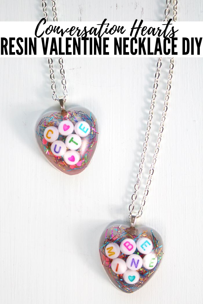 valentines jewelry resin valentines gift heart pendant girls necklace gift for her heart necklace girls jewelry heart jewelry