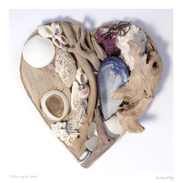 Cornish Driftwood Heart by Padstow artist Susie Ray