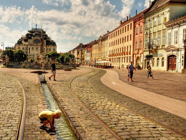 Kosice, Slovakia  old town Main Street