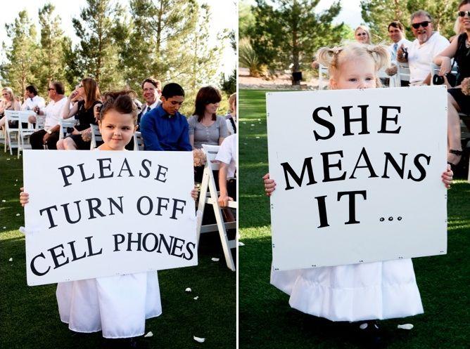 Flower girl signs. Remind you of anyone?Wedding Ceremonies, Little Girls, Dreams, Wedding Ideas, Cute Ideas, Cell Phones, Wedding Signs, Flower Girls, The Brides