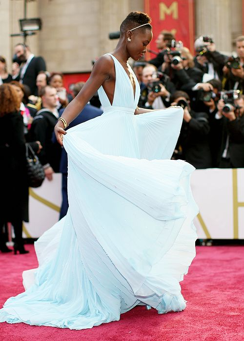 Lupita Nyong'o at the 86th Annual Academy Awards.. That dress..