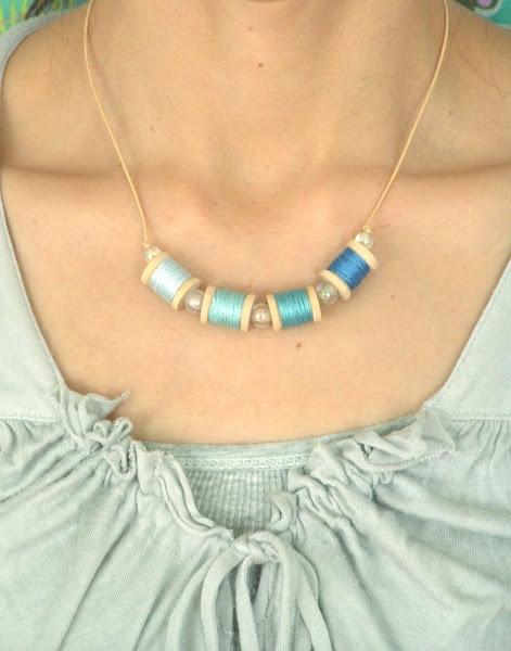 Tea rose home tutorial mini spool necklace quick