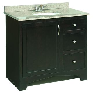Best Photo Gallery For Website The Design House Ventura espresso finished vanity cabinet updates your home with solid wood door frames and drawers coated with a water resistant seal