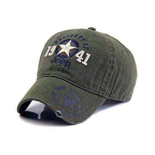 jeep hat women men baseball golf ball sport outdoor logo blue cap stone washed caps