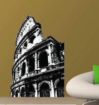 Ρωμη Κολοσσαίο Αυτοκόλλητο τοίχου,17,00 €,https://www.stickit.gr/index.php?id_product=216&controller=product