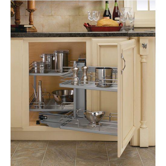 Kitchen Corner Cabinet Solutions: Premiere Blind Corner Kitchen Cabinet System By Rev-A-Shelf