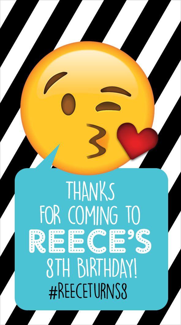 Emoji thank you tags