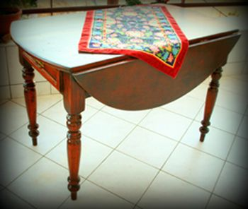 Dining table - after the recovery- restoration