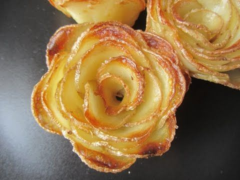 Rose Shaped Apple Baked Dessert by Cooking with Manuela - YouTube