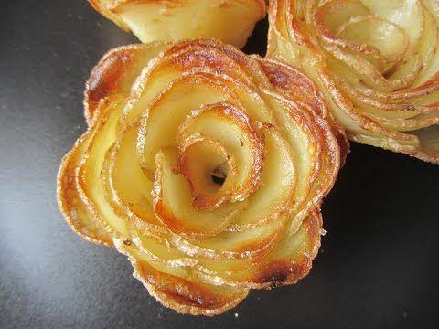 Roses aux pommes feuilletées - Dessert fête des mères - YouTube