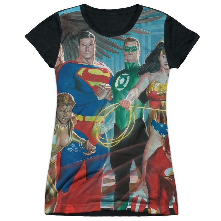 "Checkout our #LicensedGear products FREE SHIPPING + 10% OFF Coupon Code ""Official"" Jla/league Of Heroes-s/s Junior Poly T- Shirt - Jla/league Of Heroes-s/s Junior Poly T- Shirt - Price: $24.99. Buy now at https://officiallylicensedgear.com/jla-league-of-heroes-s-junior-poly-shirt-licensed"