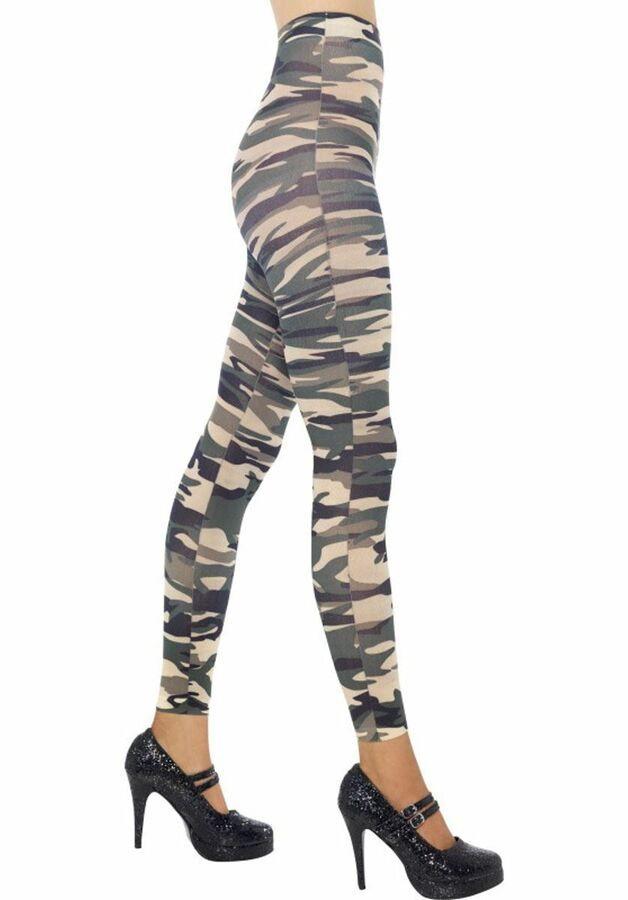 0764c5c2c846d Ladies Sheer Desire Hosiery Footless Camouflage Army Tights military Fancy  Dress#Hosiery#Footless#Desire