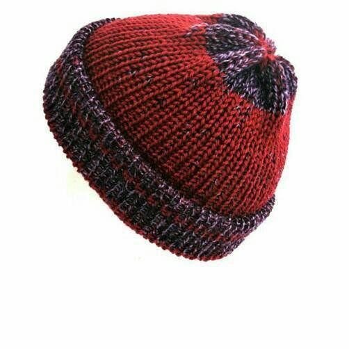 d3330965c07 Wool knit hat beanie hat purple hat fisherman beanie knitted hat knitted beanie  hats women mens beanie grunge hat with brim trawler beanie