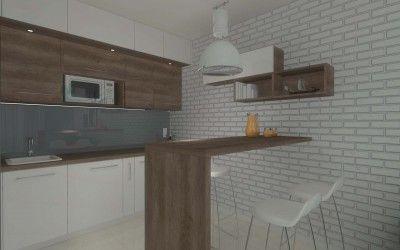 Projekt wnętrza kuchni pod klucz w apartamencie w Darłówku, wykonany przez Mobiliani Design - http://mobilianidesign.pl/o-mobiliani-design/