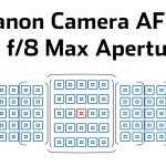 Which Canon Cameras Maintain Autofocus with Extenders at f/8 Max Aperture?