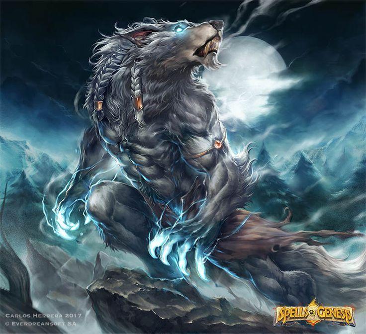 Werewolf Howling by Chaos-Draco.deviantart.com on @DeviantArt