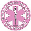Emergency Medical Technician EMT - Pink Helmet Decal  Change the text or add your own text to this sticker.  Contact us today to customize this sticker.