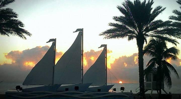 Daybreak over the ocean