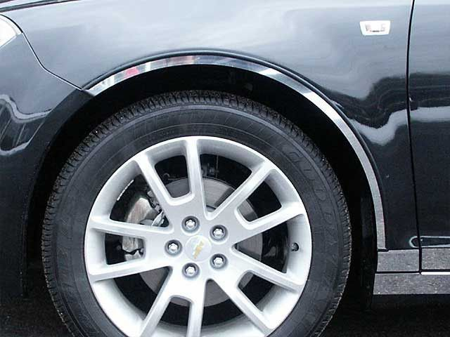 MALIBU 2008-2012 CHEVROLET (4 piece stainless steel wheel Well trim kit: includes 3M adhesive backing - cut to the rocker) WQ48106