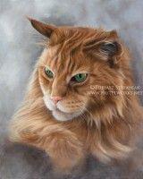 Tableau de chat à poil long  . . .  Original paintings and drawings by Tobiasz Stefaniak. Click to see more ->