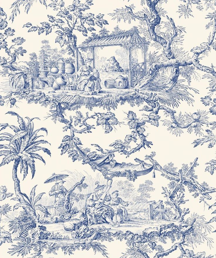 95 best images about toile de jouy on pinterest toile - Papel pintado toile de jouy ...