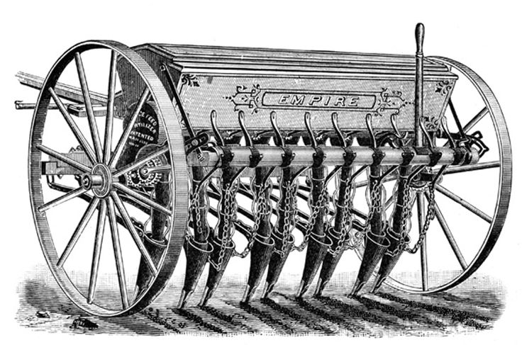 Even though it was invented in 1701 the seed drill was a very efficient piece of equipment for farmers of the 1890's