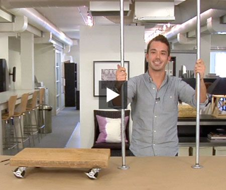 Make a retail-chic rolling rack — it's easy!