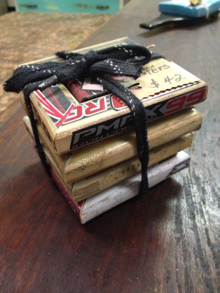 Hockey Stick coasters via Sheu0026#39;s Crafty. Click on the image ...