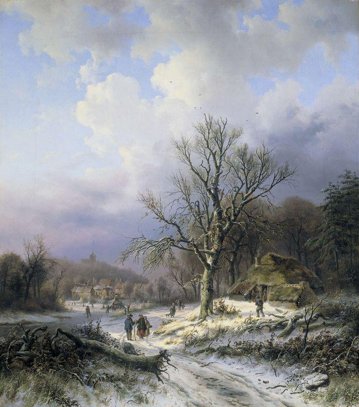 Sneeuwlandschap, Alexander Joseph Daiwaille, 1845