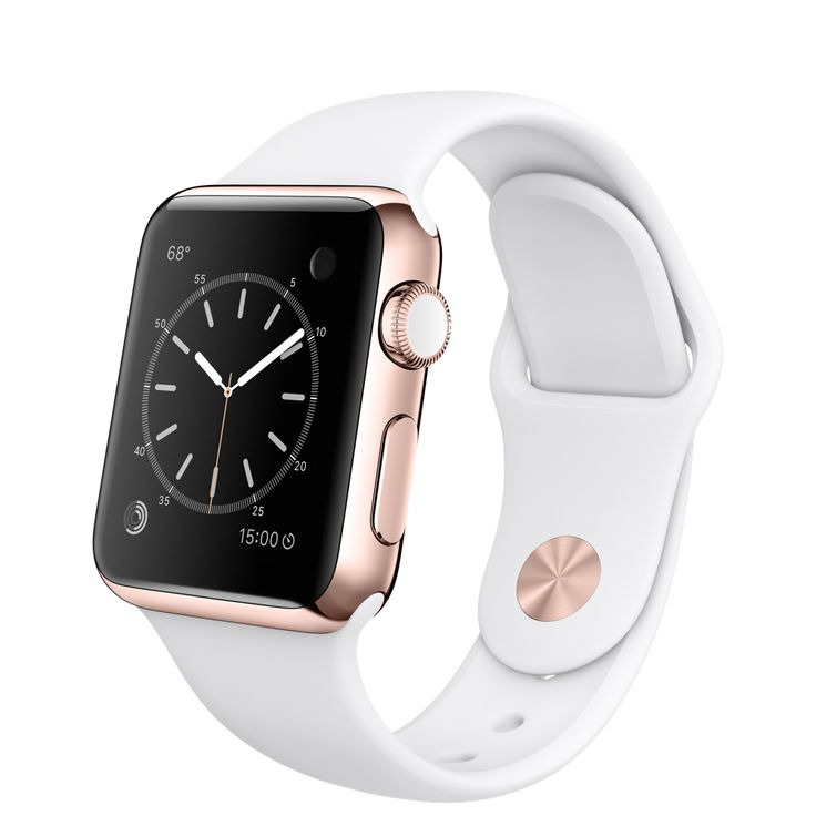 Apple Watch Edition 38mm 18-Karat Rose Gold Case with White Sport Band  http://store.apple.com/xc/product/MJ8P2LL/A