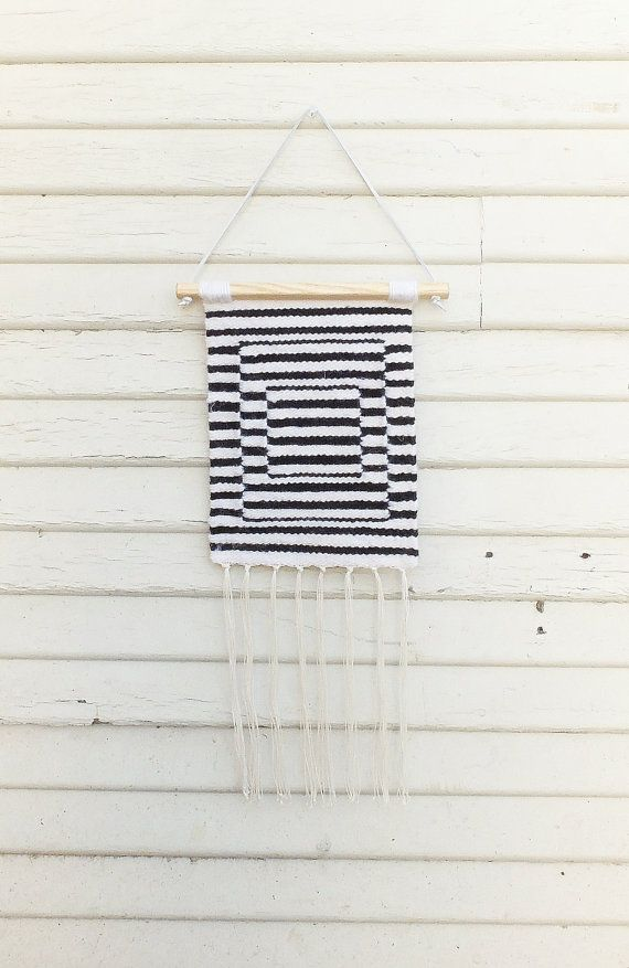 "Handwoven Tapestry / Woven Wall Hanging / Weaving ""Stripes and Stripes and Stripes"""