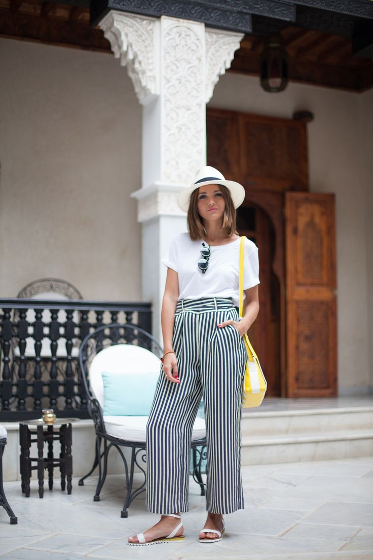Here, on location in Marrakesh, Lovely Pepa shares her favourite ways to wear one of the key trends of the season. Stripes!