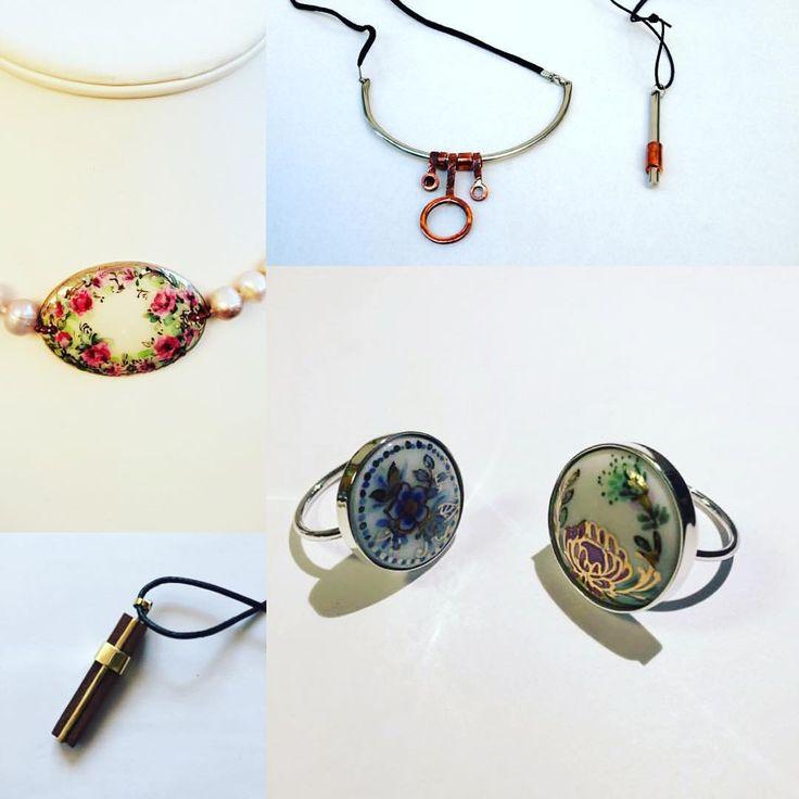 Bună dimineața cu bijuterii. Iată câteva dintre accesoriile de modă pe care le vom vinde cu plăcere și sinceritate ... Cuvintele cheie: porțelan, inox, cupru, mahon și piele. Ah da, #handmade apropo smile emoticon #bijuterii #ollala